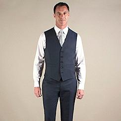 Jeff Banks - Blue tonic 5 button suit waistcoat