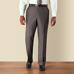 Centaur Big & Tall - Big & tall grey semi-plain regular fit trouser
