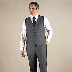Centaur Big & Tall - Big & tall grey semi-plain regular fit waistcoat