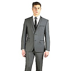 Red Herring - Charcoal semi-plain slim fit 2 button jacket