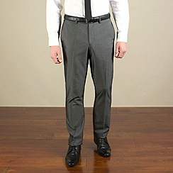 Red Herring - Charcoal semi-plain slim fit trouser