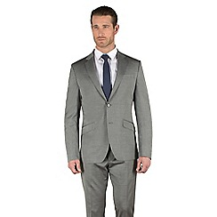 Stvdio by Jeff Banks - Silver tonic tailored fit 2 button soft tailoring suit jacket