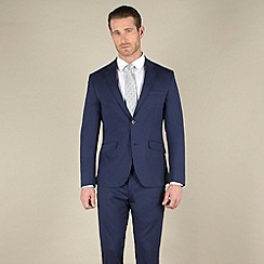 Stvdio by Jeff Banks - Blue tonic tailored fit 2 button soft tailoring suit