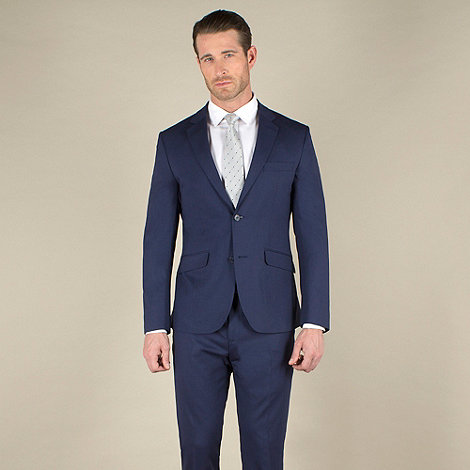 Stvdio by Jeff Banks - Blue tonic tailored fit 2 button soft tailoring suit jacket