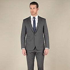 Stvdio by Jeff Banks - Grey stripe slim fit 1 button suit