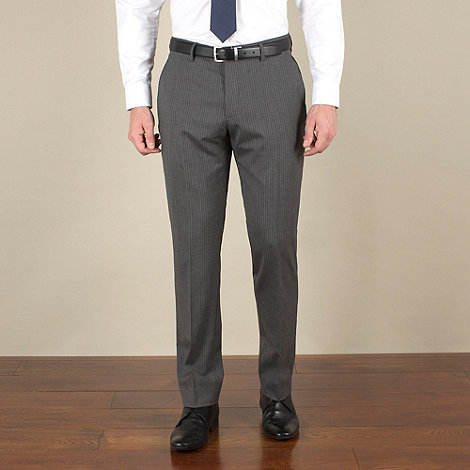 Stvdio by Jeff Banks - Grey stripe slim fit suit trouser