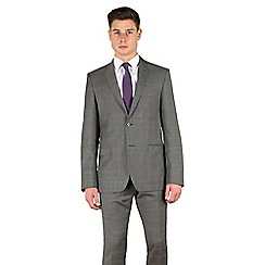 Stvdio by Jeff Banks - Grey check 2 button slim fit suit