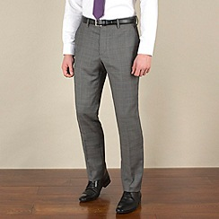 Stvdio by Jeff Banks - Grey check slim fit suit trouser