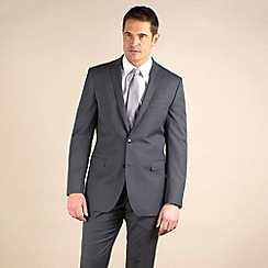 Racing Green - Grey stripe regular fit 2 button jacket