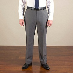 Racing Green - Grey stripe regular fit trouser