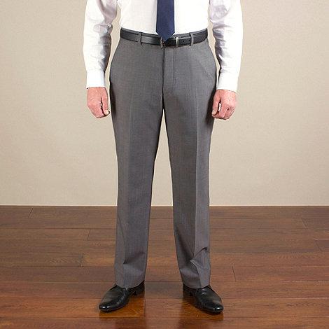 Racing Green - Grey stripe regular fit trouser