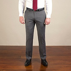 Racing Green - Grey semi-plain regular fit trouser