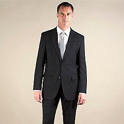 Jeff Banks - Black plain weave travel plus regular fit 2 button jacket