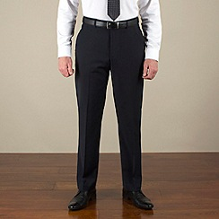 Jeff Banks - Navy plain weave travel plus regular fit trouser