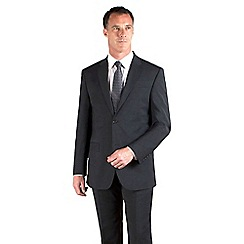 Jeff Banks - Charcoal plain weave travel plus regular fit 2 button suit