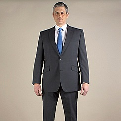 Centaur Big & Tall - Big & tall grey stripe regular fit 2 button suit
