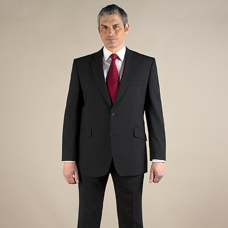 Centaur Big & Tall - Black stripe 2 button washable suit jacket