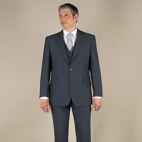 Centaur Big & Tall - Big & tall blue mohair-look regular fit 2 button jacket