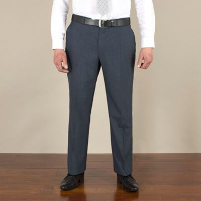 Centaur Big & Tall Big & tall blue mohair-look regular fit trouser - . -
