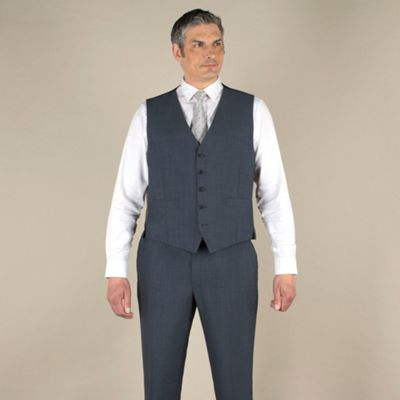 Centaur Big & Tall Big & tall blue mohair-look regular fit waistcoat - . -