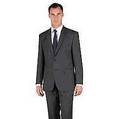 Racing Green - Grey with blue stripe 2 button suit