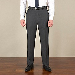 Racing Green - Grey with blue stripe suit trouser