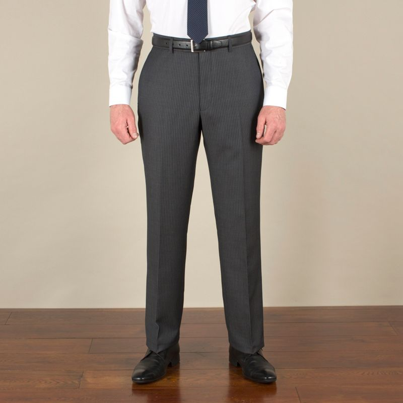 Racing Green Grey with blue stripe suit trouser