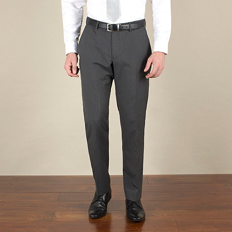 Racing Green - Grey narrow stripe regular fit suit trousers