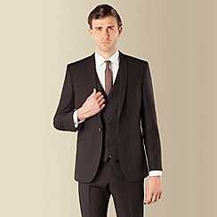 Red Herring - Black twill slim fit suit