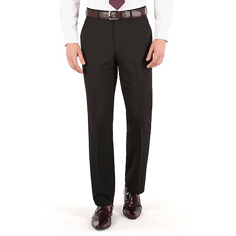 Thomas Nash - Black plain weave regular fit trouser