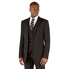 Thomas Nash - Black plain weave tailored fit 2 button suit