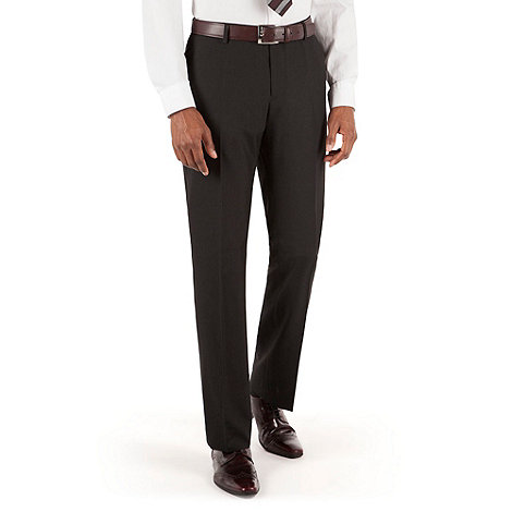 Thomas Nash - Black plain weave tailored fit suit trouser