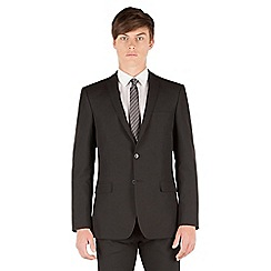 Thomas Nash - Black plain weave slim fit 2 button jacket