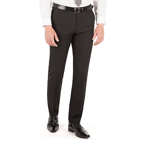 Thomas Nash - Black plain weave slim fit trouser