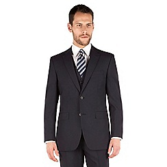Thomas Nash - Navy plain weave regular fit 2 button jacket