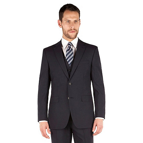 Thomas Nash - Navy plain regular fit 2 button suit jacket