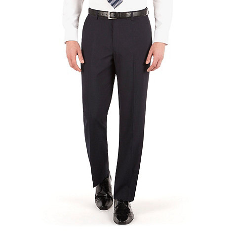 Thomas Nash - Navy plain weave regular fit trouser