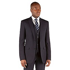 Thomas Nash - Navy plain weave tailored fit 2 button suit
