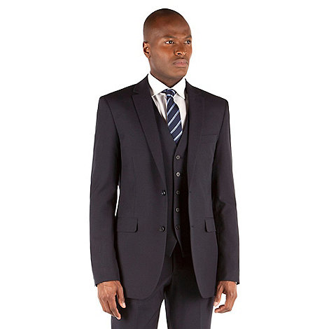 Thomas Nash - Navy plain weave tailored fit 2 button jacket