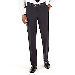 Thomas Nash - Navy plain weave tailored fit trouser