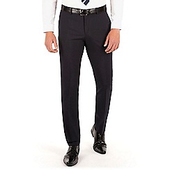 Thomas Nash - Navy plain weave slim fit suit trouser