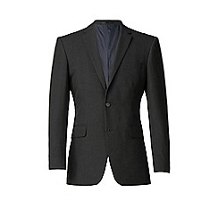 Thomas Nash - Charcoal plain weave regular fit 2 button jacket