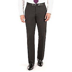 Thomas Nash - Charcoal plain weave regular fit trouser