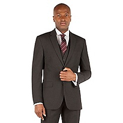 Thomas Nash - Charcoal plain weave tailored fit 2 button jacket