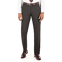 Thomas Nash - Charcoal plain weave tailored fit suit trouser