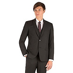 Thomas Nash - Charcoal plain weave slim fit 2 button suit