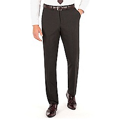 Thomas Nash - Charcoal plain weave slimfit trouser