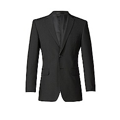 Thomas Nash - Black stripe 2 button regular fit suit jacket