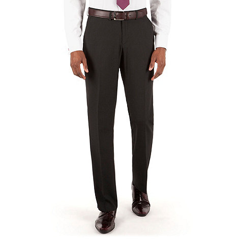 Thomas Nash - Black stripe tailored fit suit trouser