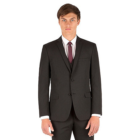 Thomas Nash - Black stripe slim fit 2 button suit jacket